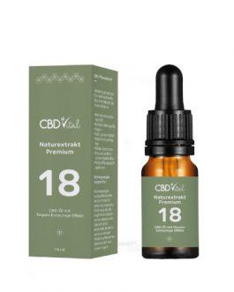 CBD Naturextrakt Premium Öl 18%