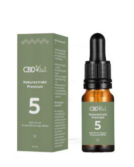 CBD Naturextrakt Premium Öl 5%